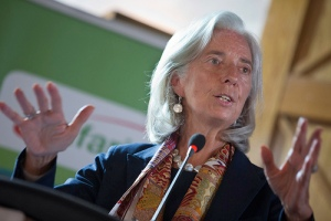 "International Monetary Fund Managing Director Christine Lagarde speaks at the Kenya Private Sector Alliance in ""Mindspeak"", a forum for young entrepreneurs January 6, 2014 in Nairobi, Kenya. Lagarde is on a two country visit to Africa. IMF Photograph/Stephen Jaffe"