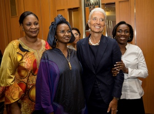 International Monetary Fund Managing Director Christine Lagarde meets with Mail's women leaders for a luncheon January 9, 2014 at the Hotel Salam in Bamako, Mali. Lagarde is on a two country visit to Africa. IMF Photograph/Stephen Jaffe