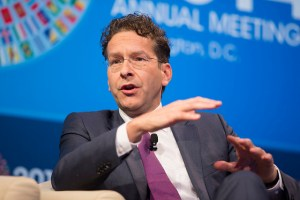 Jeroen Dijsselbloem, President, Eurogroup participates in a CNN Debate at the 2014 IMF/World Bank Annual Meetings at George Washington University, Lisner Auditorium October 9, 2014 in Washington. IMF Staff Photograph/Stephen Jaffe